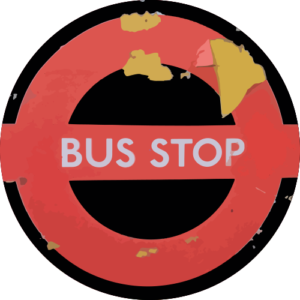 Peeling Bus Stop – Black Slipmat