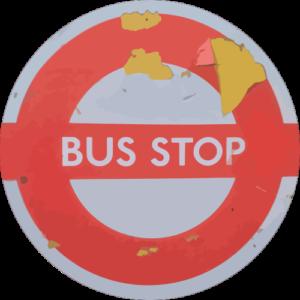 Peeling Bus Stop – Grey Slipmat