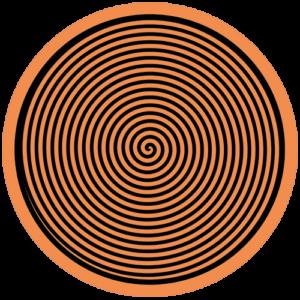 Spiral – Orange / Black