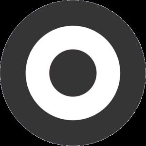 Mod Target – Black & White Slipmat
