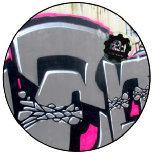 R2D Graffiti 1 Slipmat