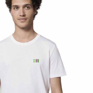 SOUTH by Noctū Small Logo – White T-shirt