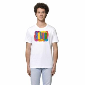 SOUTH by Noctū Large Front – White T-shirt