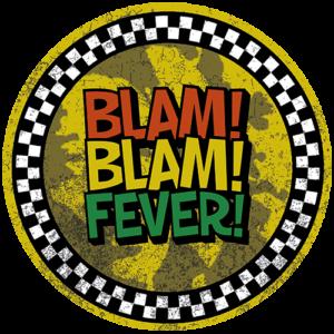 Black Slab BlamBlamFever Yellow Slipmats