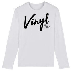Black Slab Vinyl Long Sleeve T-Shirt