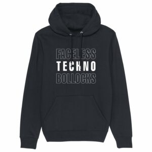 Faceless Techno Bollocks Black Hoodie