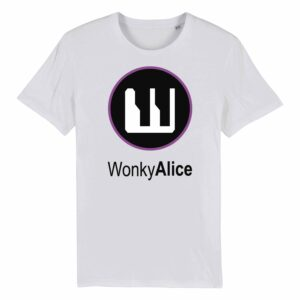 Wonky Alice T-shirt – Purple
