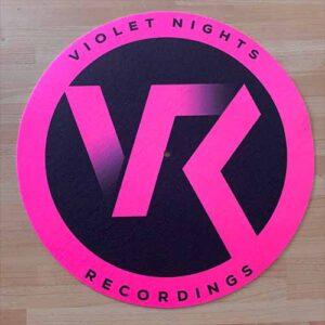 Violet Nights Recordings Slipmat – Fluorescent Pink & Black