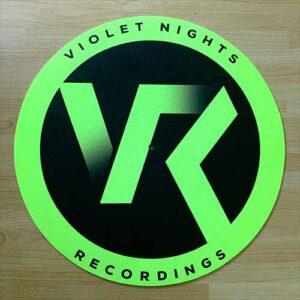 Violet Nights Recordings Slipmat – Fluorescent Yellow & Black
