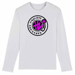 Hardcore Vinylists – Big Pink Logo Long Sleeve T-shirt