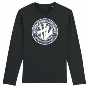Hardcore Vinylists – Big Camo Logo Long Sleeve T-shirt