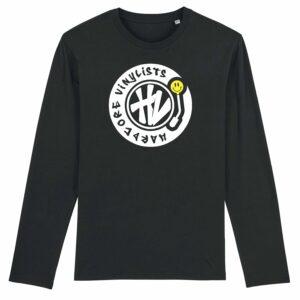 Hardcore Vinylists – Big Yellow Logo Long Sleeve T-shirt