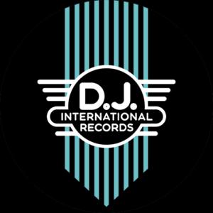 DJ International – Main Logo Green on Black Slipmats