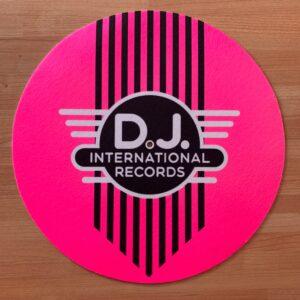 DJ International – Main Logo Fluorescent Pink Slipmats