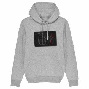 8 zero 8 Productions – Dark 2 Logo Grey Hoodie