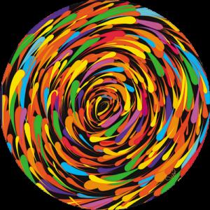 Lisa Dea – Rainbow whirl Slipmat